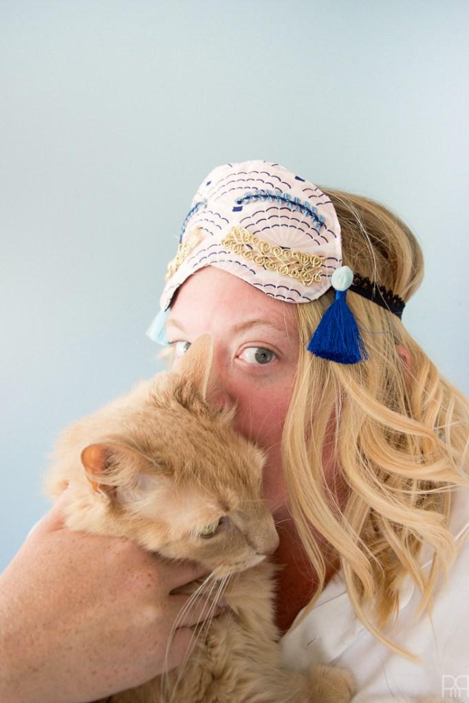 DIY Holly Golightly Sleep Masks
