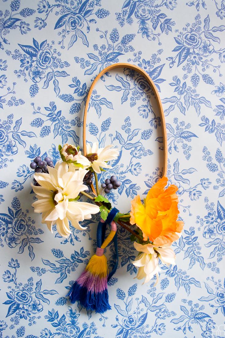 Colourful Floral Fall Hoop Wreaths