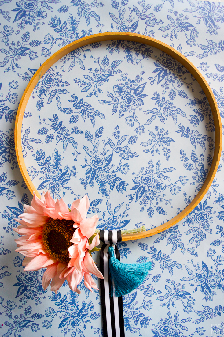 Colourful Floral Fall Hoop Wreaths