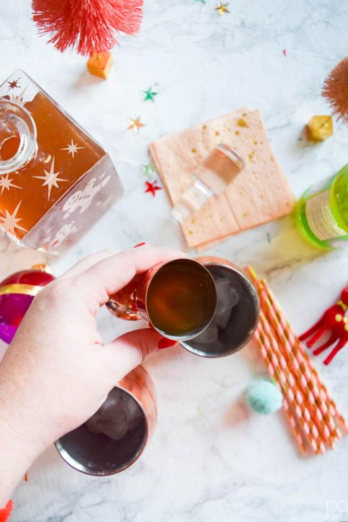 DIY Gingerbread Vodka Moscow Mule