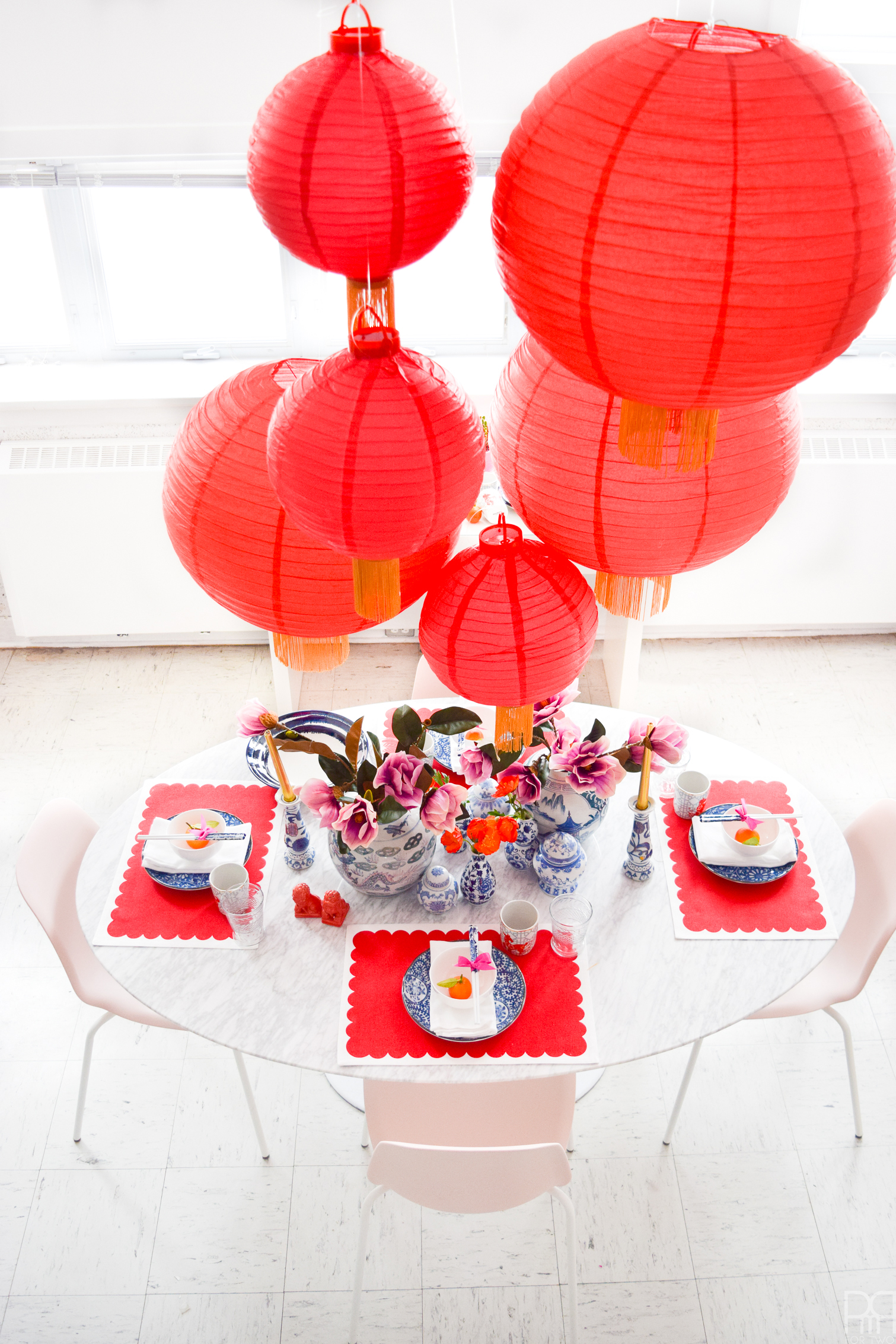 Glam Lunar New Year Tablescape Year Of The Dog Pmq For Two