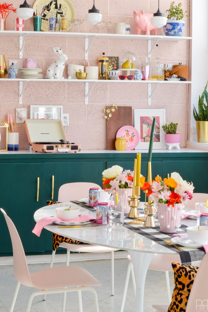 Pink & Bold Spring Tablescape