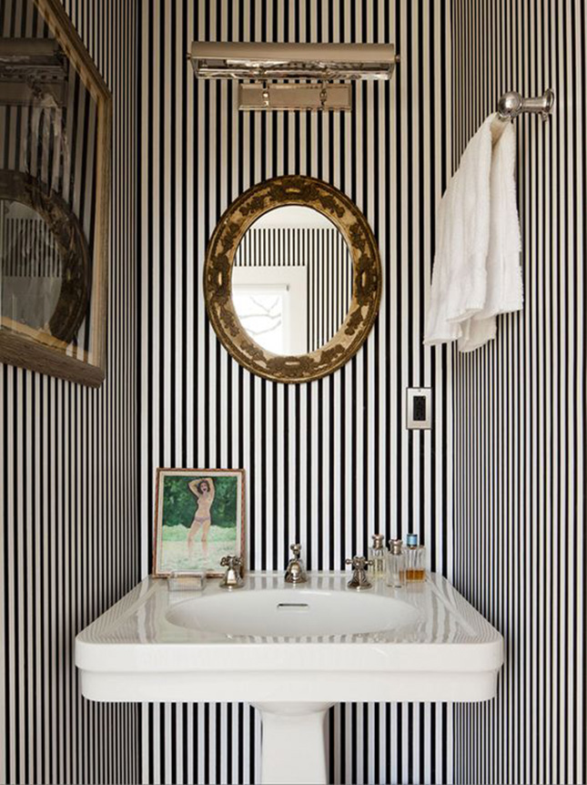 Come see how I plan to turn a tiny and cramped half bath into a Glam Kate Spade Inspired Powder Room, using simple patterns, bold colours, and glam accents.