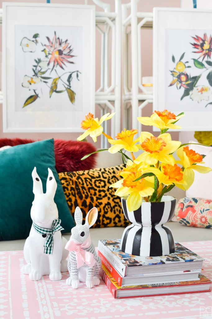 Eclectic Spring & Easter Decor in the studio