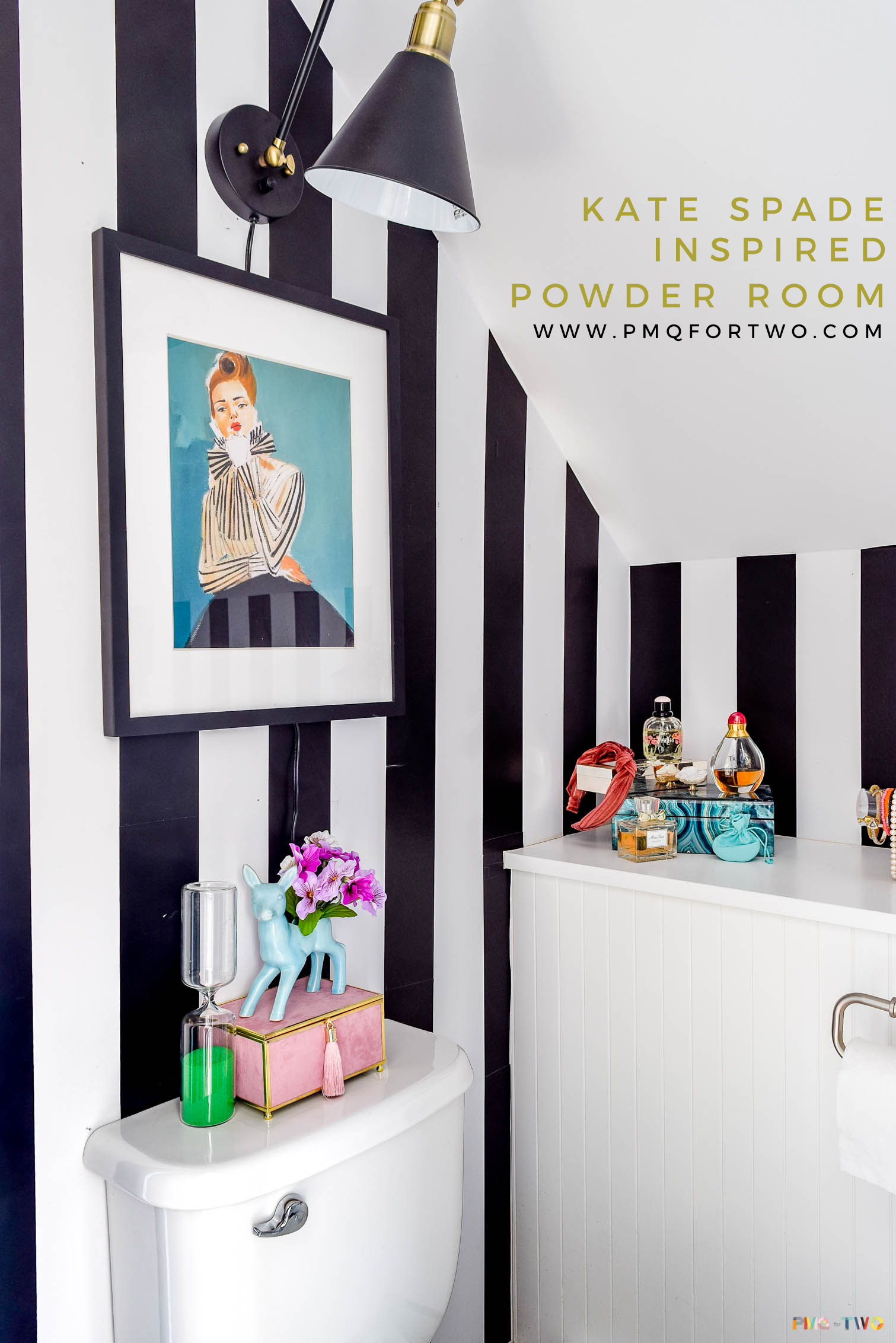 Bring A Little Razzle Dazzle To Your Bathroom With This Kate Spade Inspired  Powder Room Makevoer