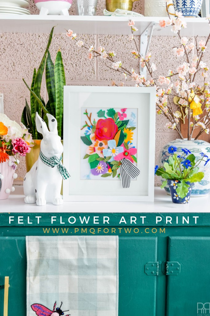 Bold, vibrant florals take on another dimension with this DIY Felt Flower Art Print. Made using crafting felt and a lot of glue, create a little slice of spring for under 10$.