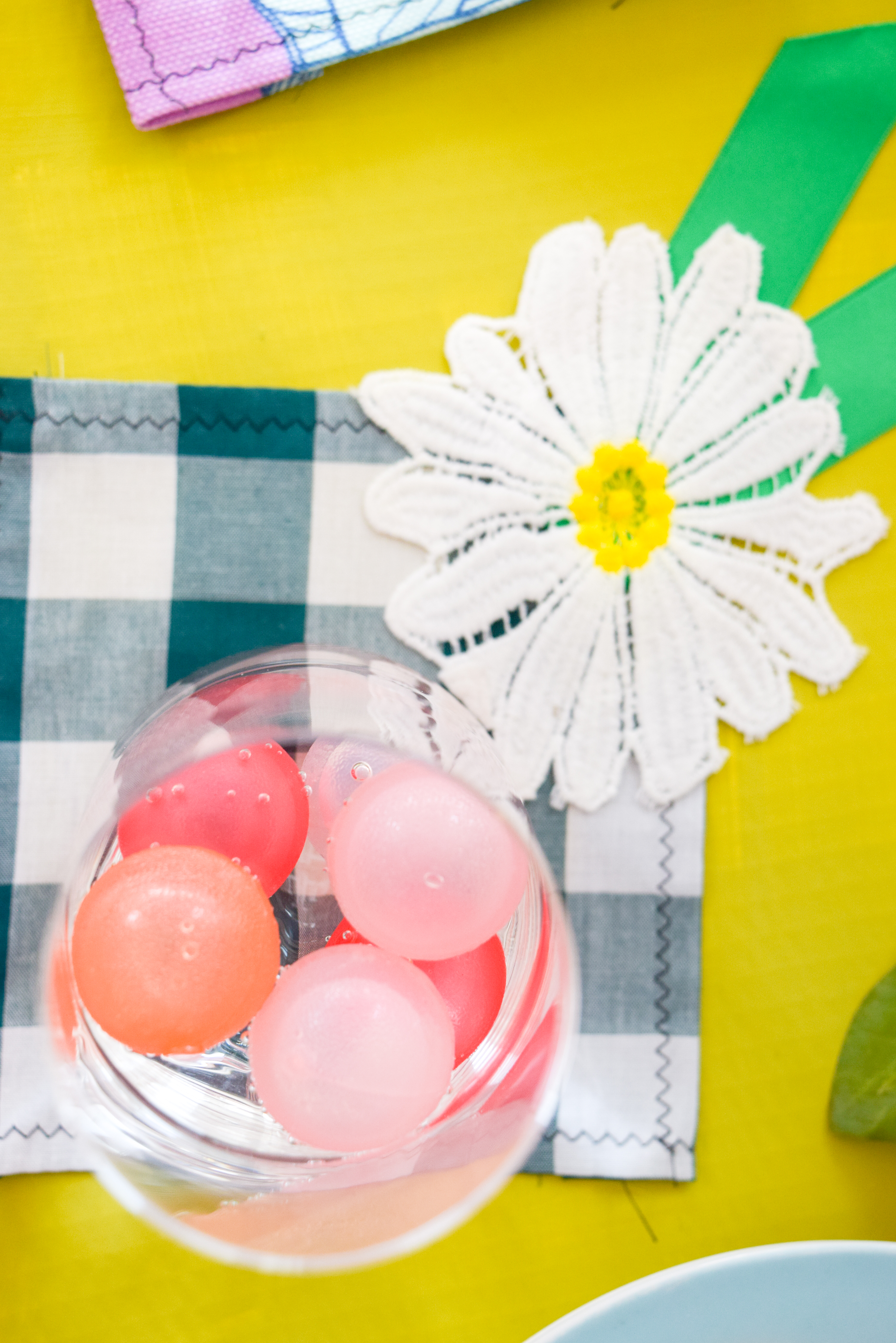 What good is a cocktail, without summer cocktail napkins in fun and breezy colours?! Make your own inspired by these, and get a head start on summer entertaining and your summer bar cart.