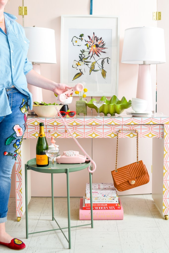IKEA Sideboard Hack with Spoonflower