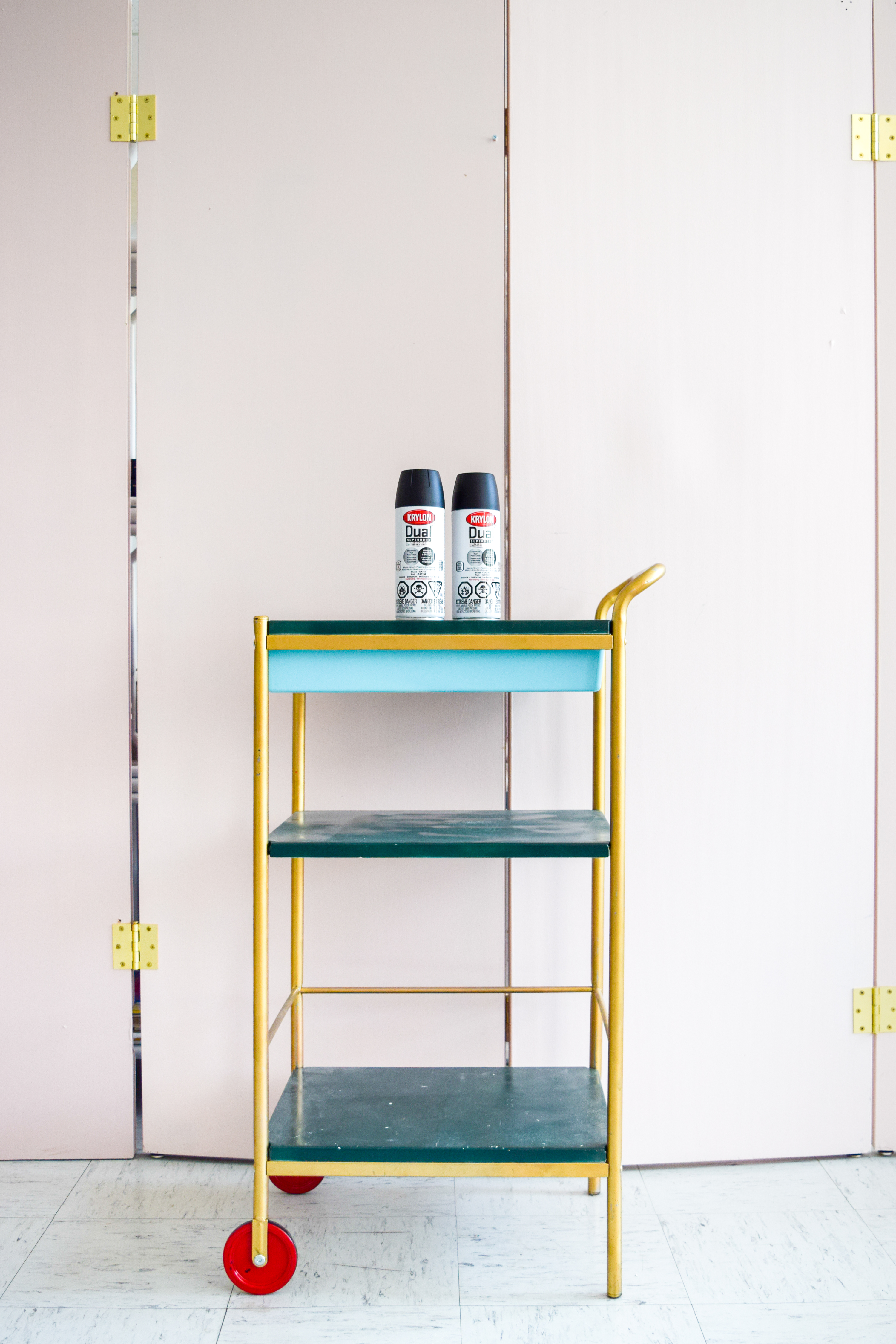 colourful bar cart