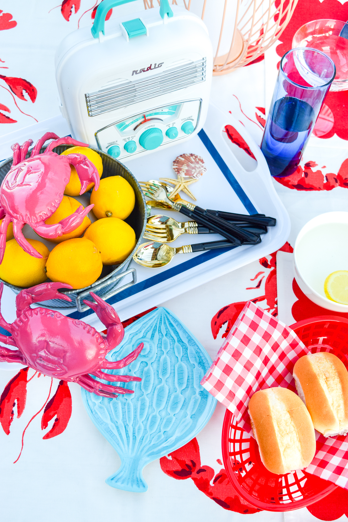 tabletop accessories for seafood table decor