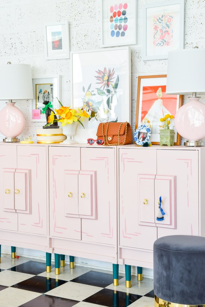 Wes Anderson Inspired Entryway Console