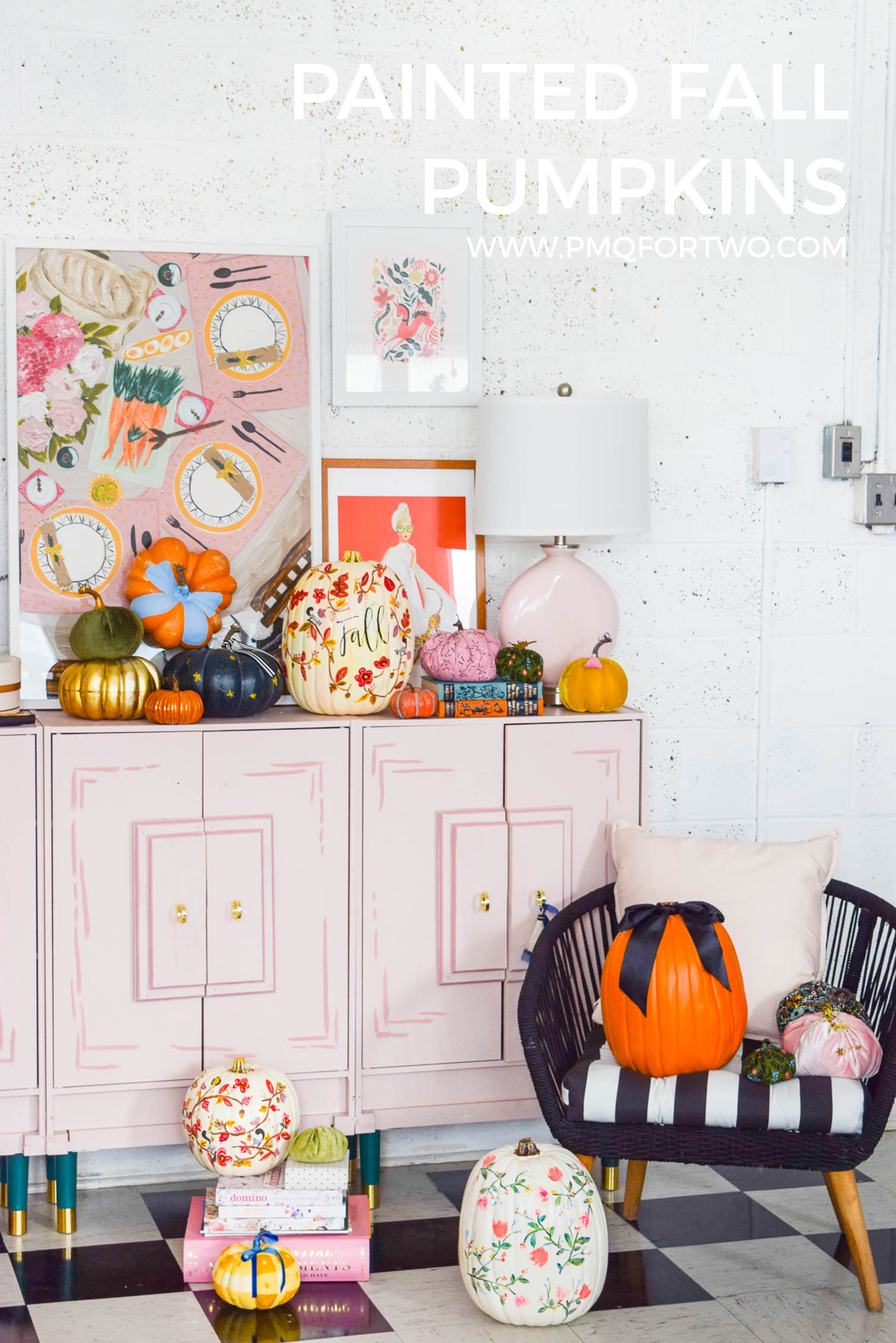 There's nothing like a fresh coat of paint to turn those generic plastic pumpkins into works of art. I've got a few different styles of DIY Painted Pumpkins & tutorials on the blog, so come check it out!