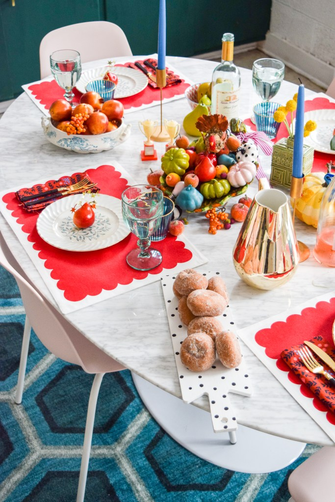 Kate Spade Inspired Colourful Fall Tablescape