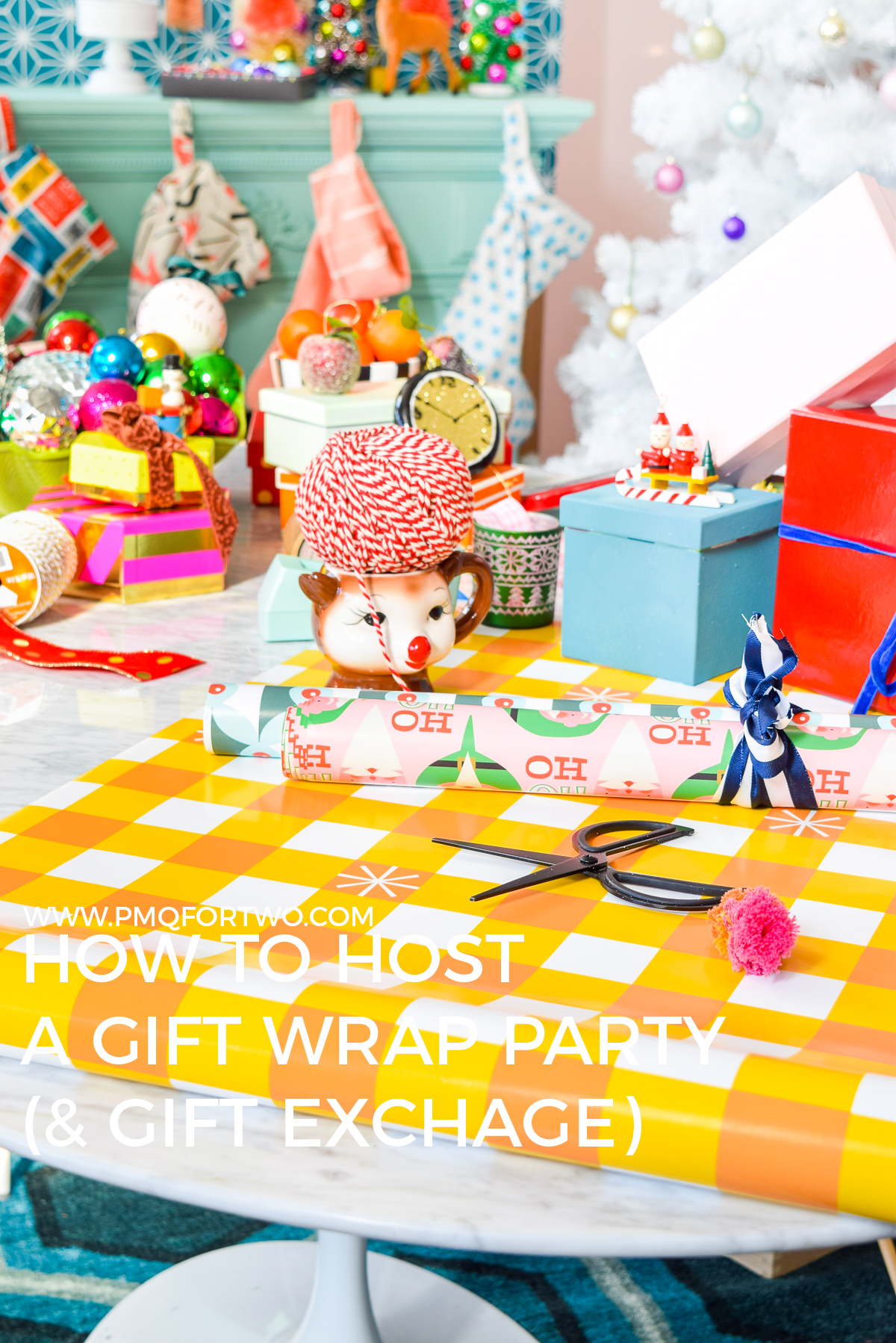 How to Throw a Gift Wrap Party (& Gift Exchange) so that everything looks hella fab under the Christmas tree. Check out my list of must haves, including where I get the best gift wrap!