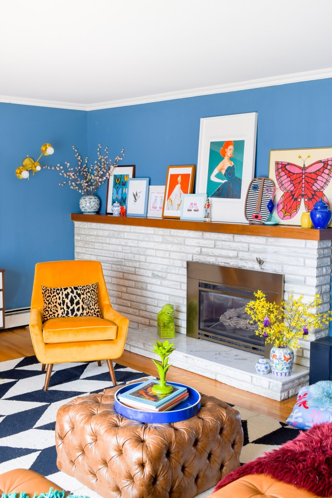Mid Mod Eclectic Living Room