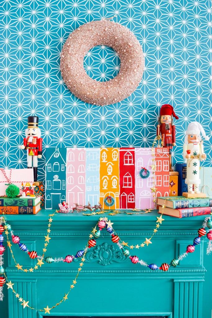 DIY Painted Christmas Village