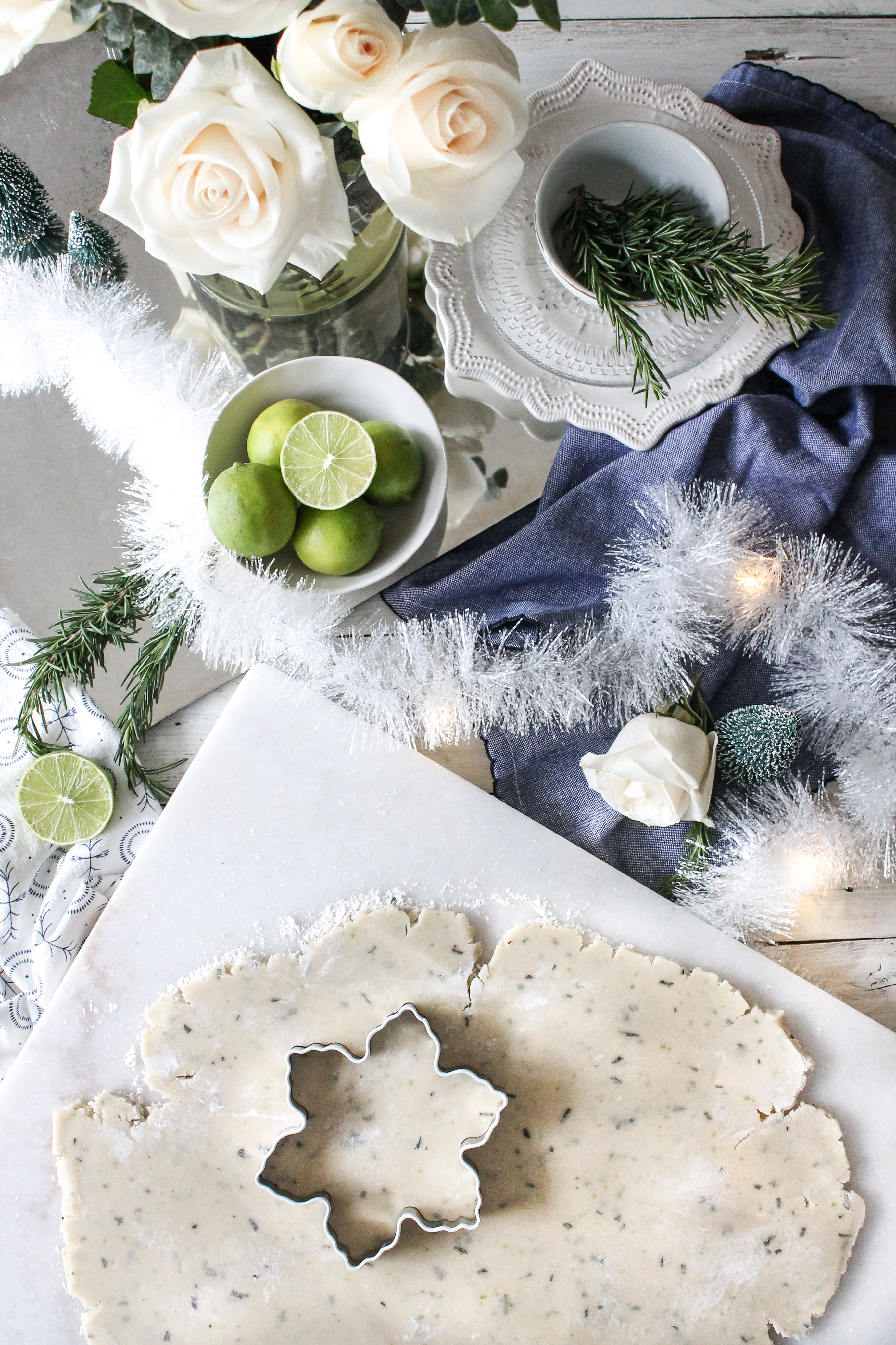 Rosemary Lime Shortbread Cookies are just what you need to get you through the early winter blues! These tasty treats still feel like Christmas, but with a fresh zing.