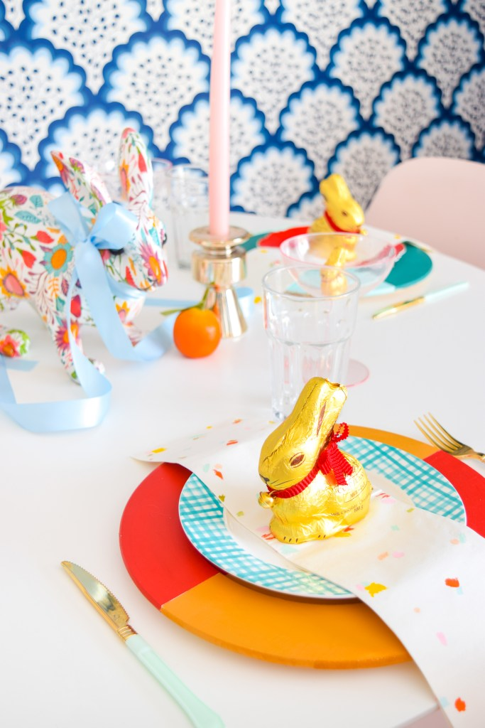 Bold & Colourful Easter Tablescape