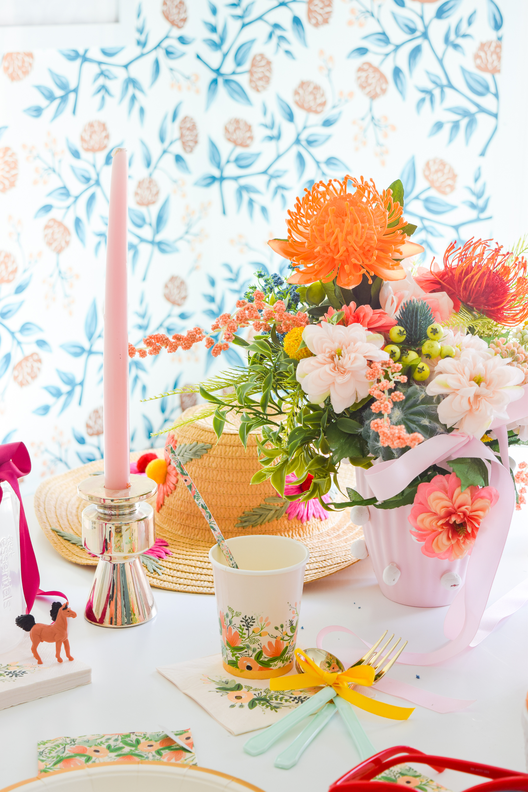 A Derby Day Baby Shower is the perfect way to celebrate a summer baby, and Rifle Paper Co's Wildflower party collection is what you need to things started.
