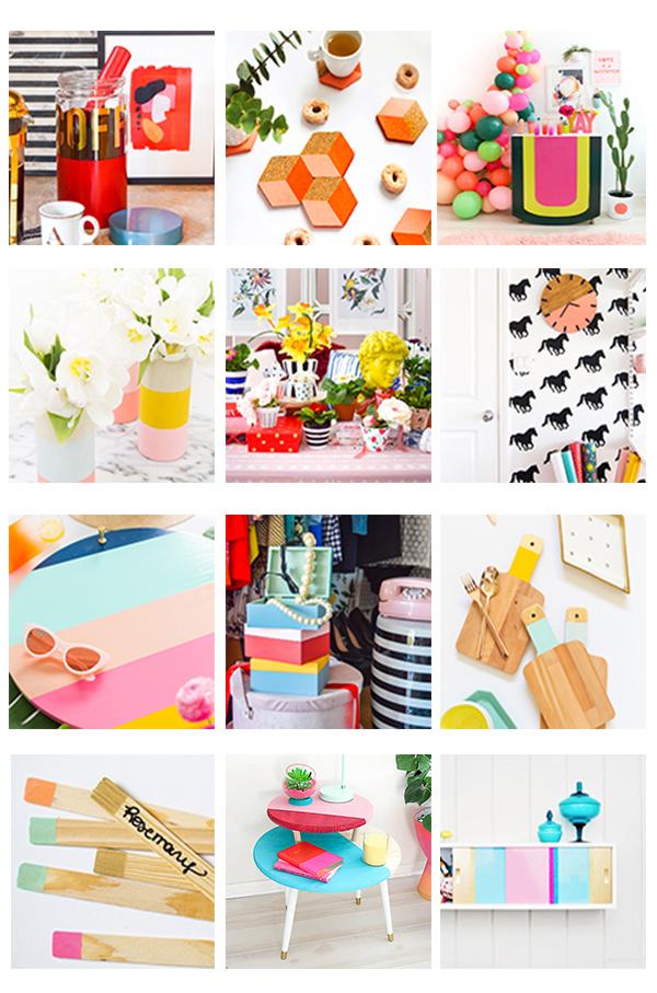 20 Fun Color Blocking Decor DIYs