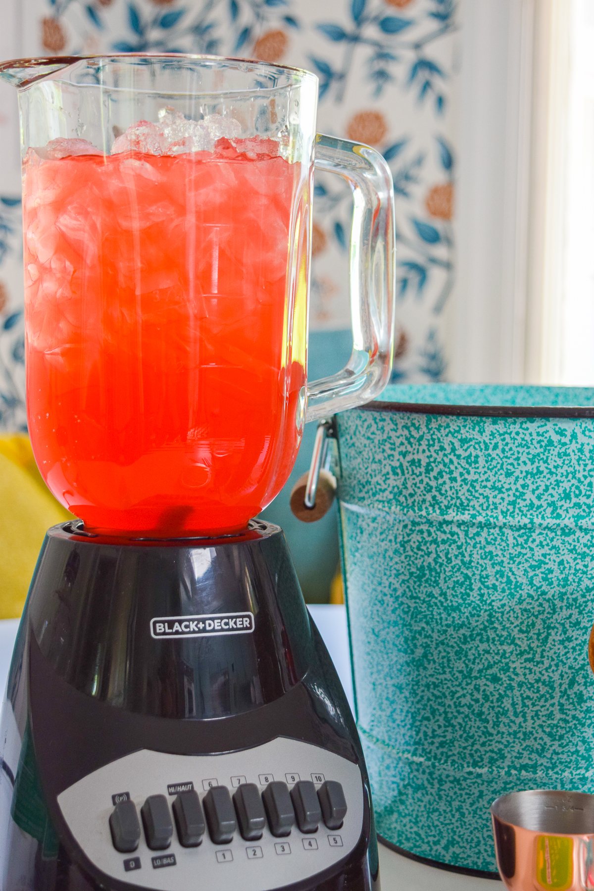 watermelon margaritas done two ways! With or without tequila, but absolutely with some fresh mint in a tiki cup. Stirring's cocktail mixers make it easy.