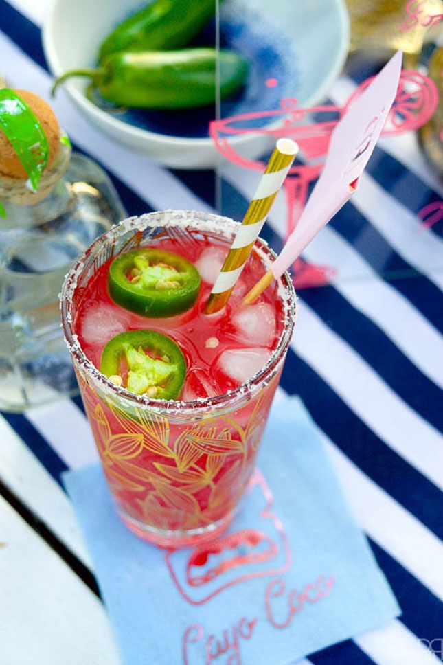 Spicy Pomegranate Margaritas by PMQ for two