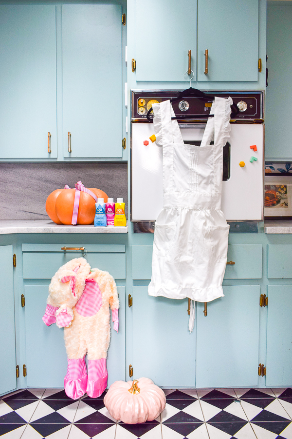 An easy mommy & me costume is one you can buy online and customize with dye! I used Rit's DyeMore for synthetics to achieve delightful pinks in this look.