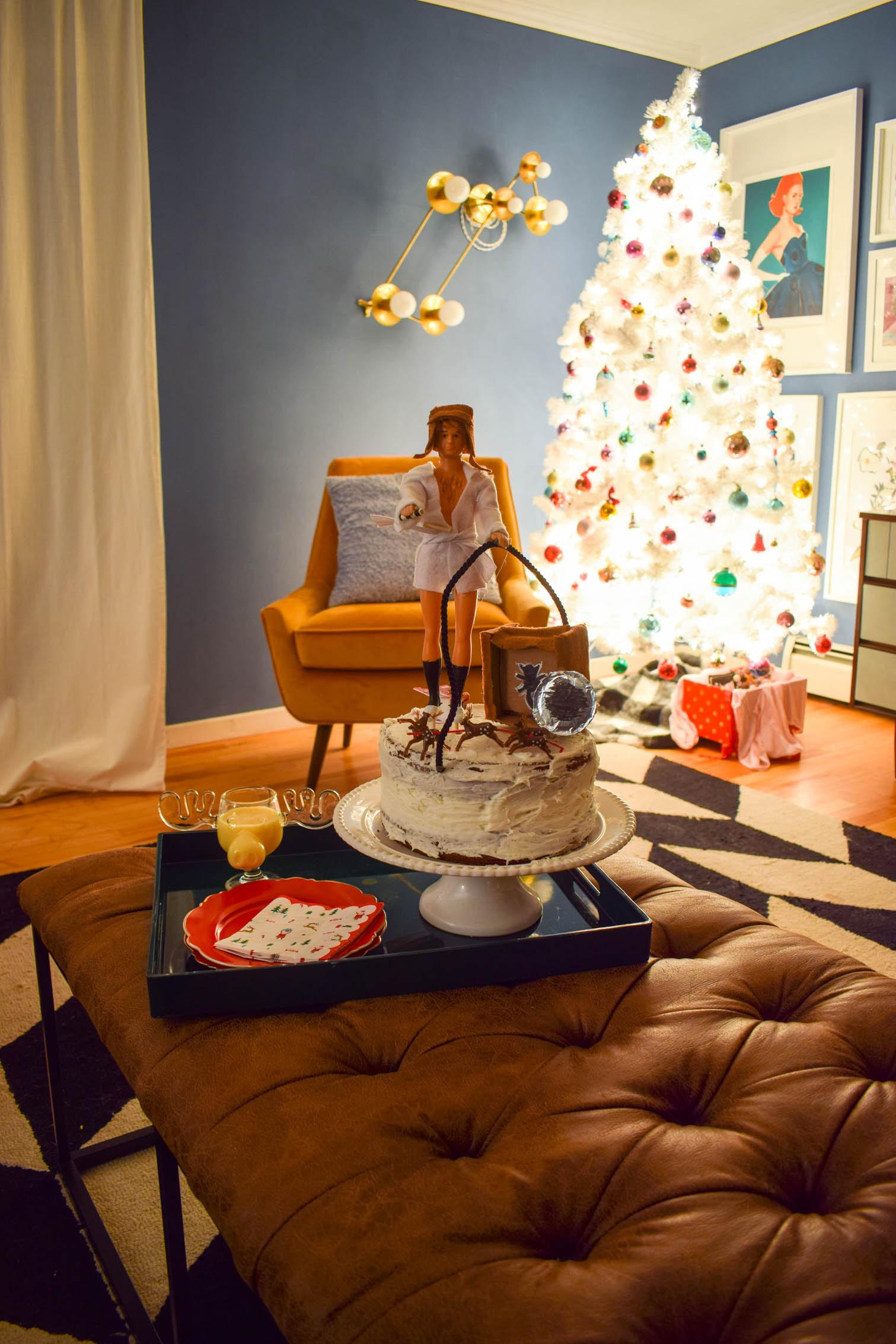 Colourful Christmas decor ideas across a variety of different textures and materials, make for a cozy and playful home this year.