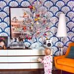 Retro Tinsel Christmas Tree Pmq For Two