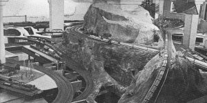 Every version of the Sierra Pacific Lines has featured mountain railroading. Source: Model Railroader, March, 1978