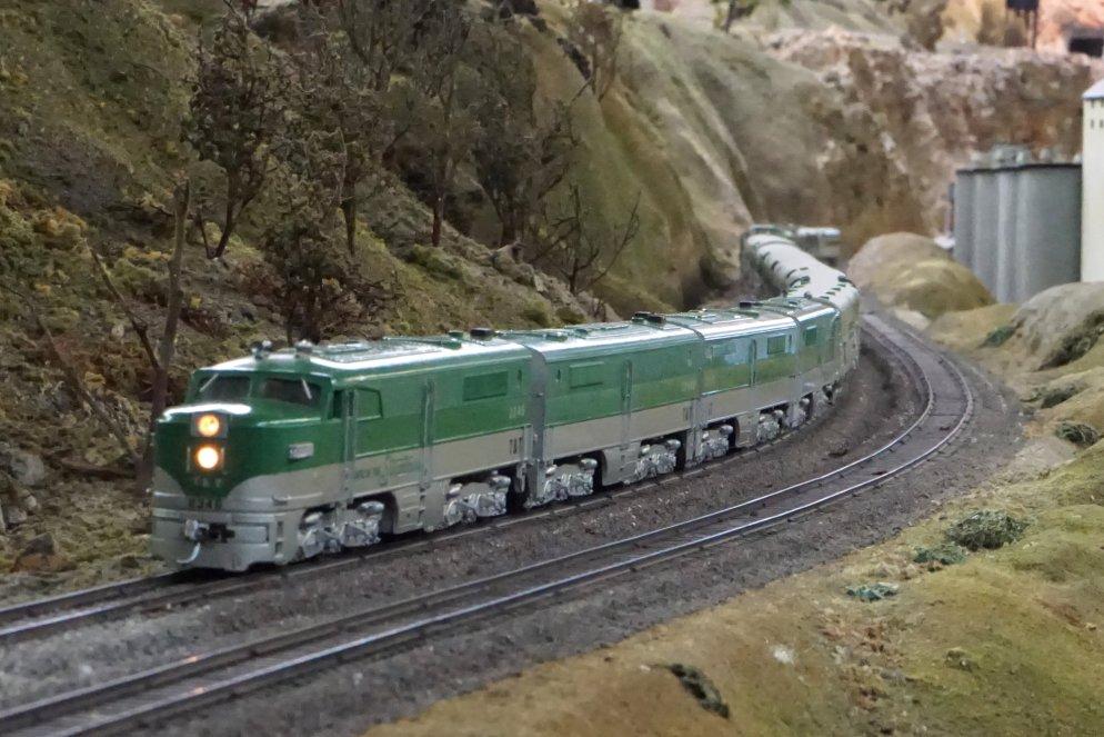 The Emerald Rocket's 70s-era Hobbytown PAs, now running DCC!