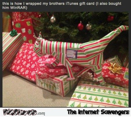 How To Wrap An ITunes Gift Card Humor PMSLweb