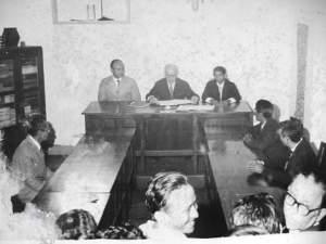 """""""Foto da reunião da câmara municipal logo após a instalação da câmara municipal de 05 de Outubro de 1889"""""""