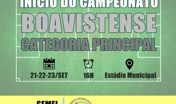 INÍCIO DO CAMPEONATO BOAVISTENSE CATEGORIA PRINCIPAL