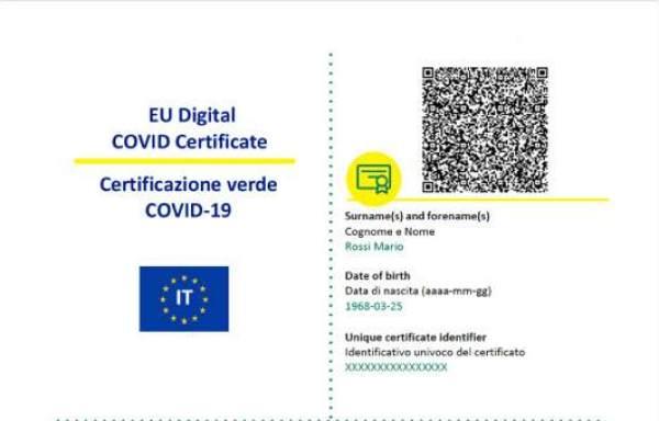 Green pass QR Code