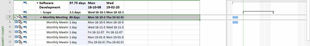 Create a Recurring Task in MS Project- change Task in nonworking days