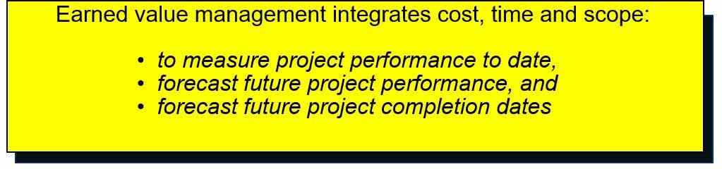 PMP - Earned value management