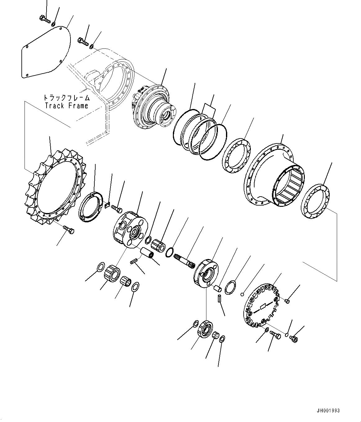 Komatsu Pc200 8 Travel Gearbox 20y 27