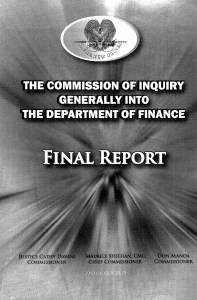 Commission of inquiry into Finance Department PNG