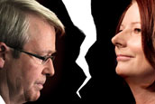 Gillard and Rudd - a battle royal for the role of Australian PM