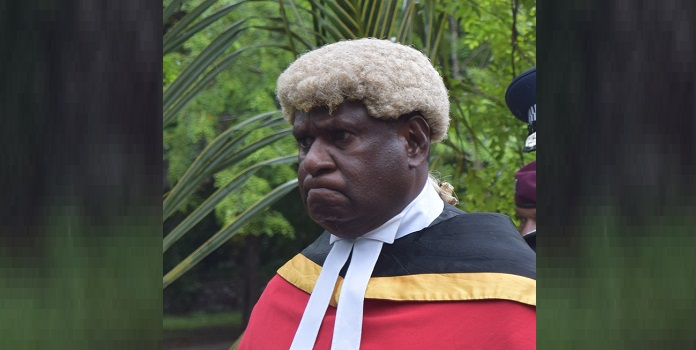 Mr Popular: Deputy Chief Justice Sir Gibbs Salika