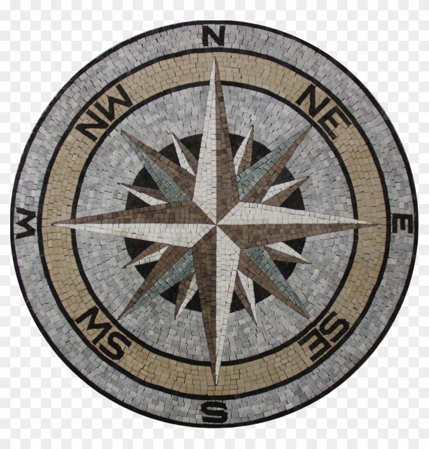 floor medallion nautical earth colors