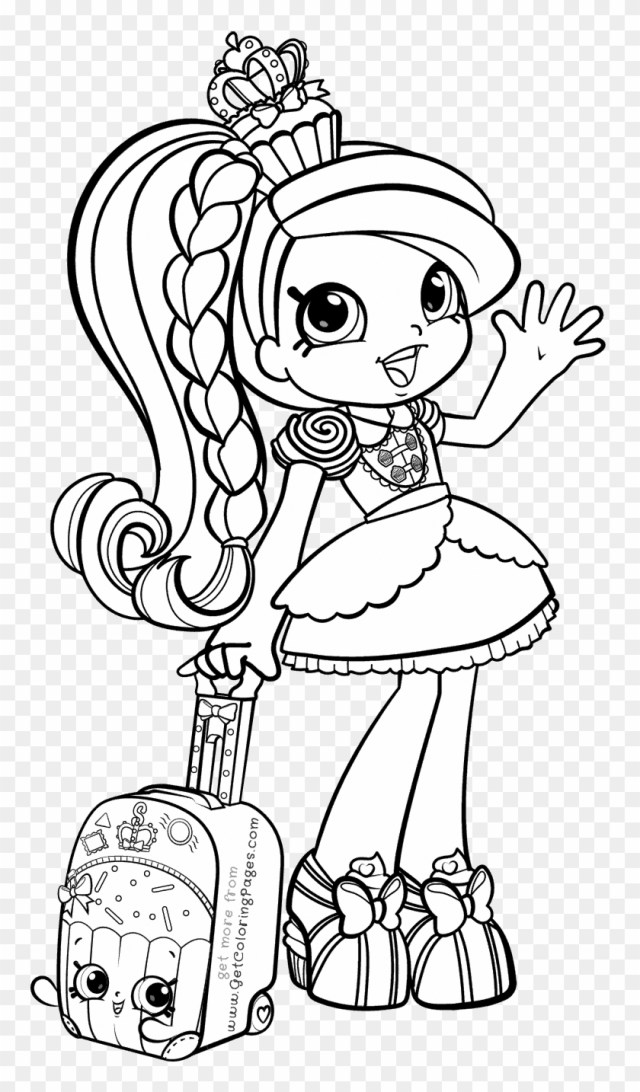 Drawing Shopkins Color - Shopkins Girls Coloring Pages, HD Png