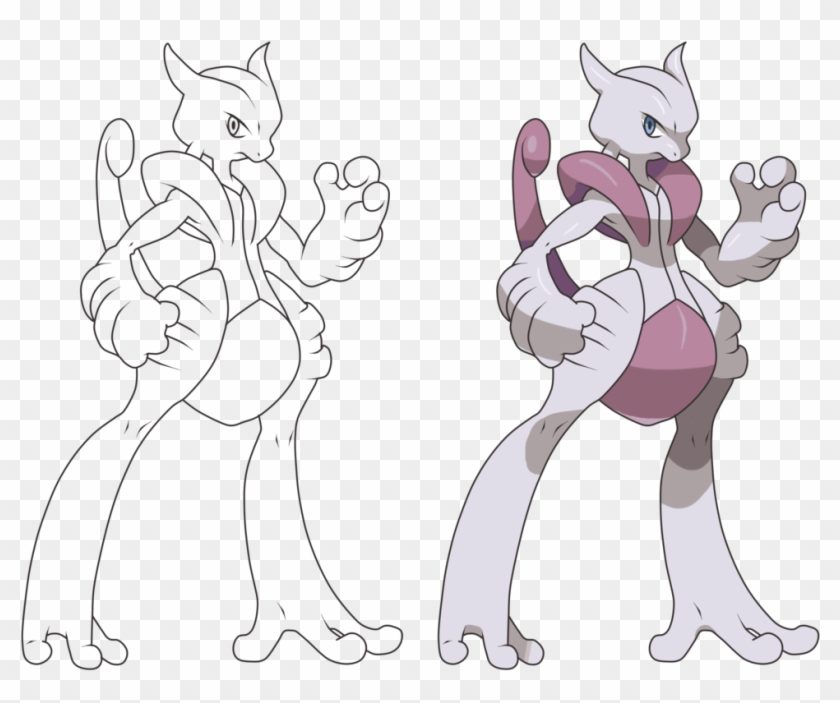 Pokemon Mega Mewtwo X Drawing Mega Evolution Pokemon Mewtwo Hd Png Download 973x768 410270 Pngfind