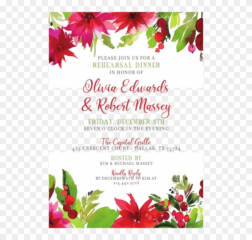 carte de noel fleurs hd png download