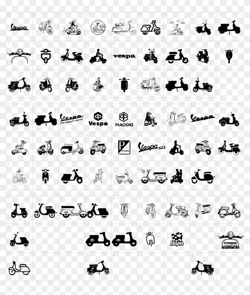 Vespa Font Calligraphy Hd Png Download 1000x1150 4287822 Pngfind