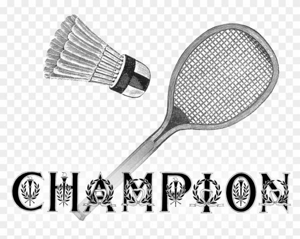 1401 Badminton Championsign Victorian Era Free Vintage - Badminton, HD Png  Download - 3300x2550(#6117756) - PngFind