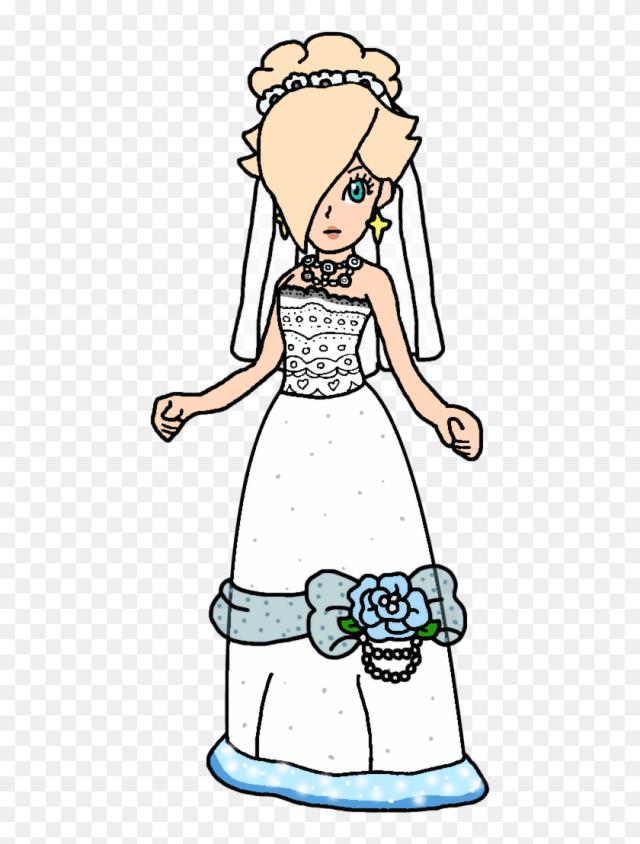Rosalina Drawing Coloring Page - Princess Rosalina Wedding Dress
