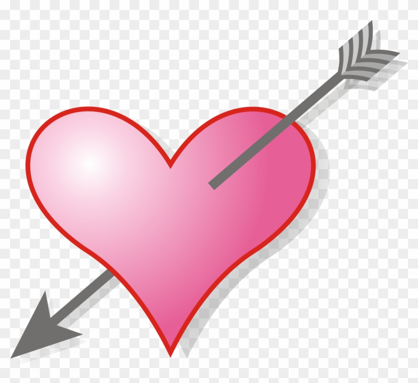 Download Svg Love Arrow Clipart - Arrow In Heart Gif, HD Png ...