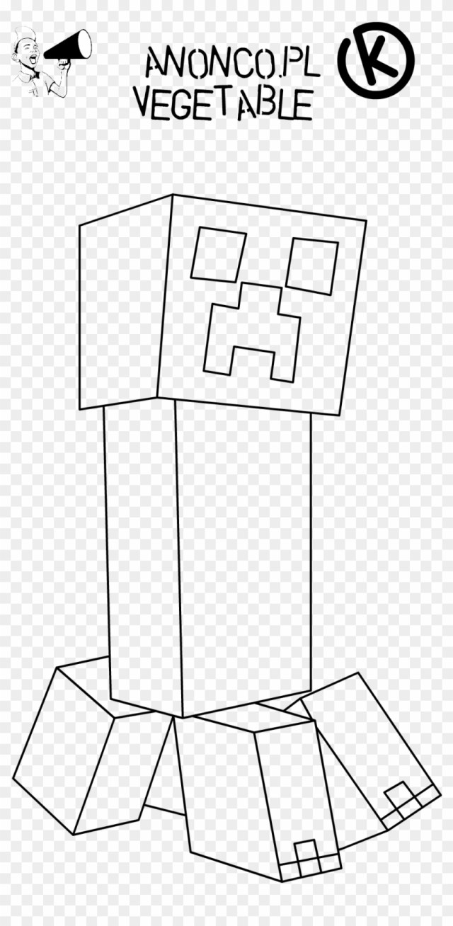 Minecraft Creeper Face Coloring Page Free Printable - Minecraft